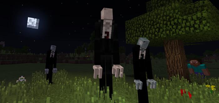 Slenderman Addon Minecraft PE Mods Addons - Skin para minecraft pe de marshmello