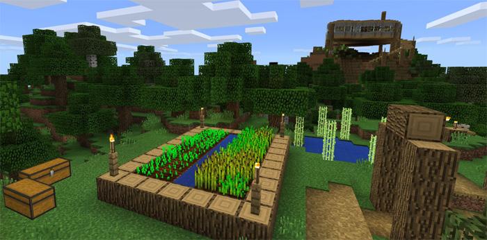 Hilltop House Survival World Creation Minecraft Pe Maps