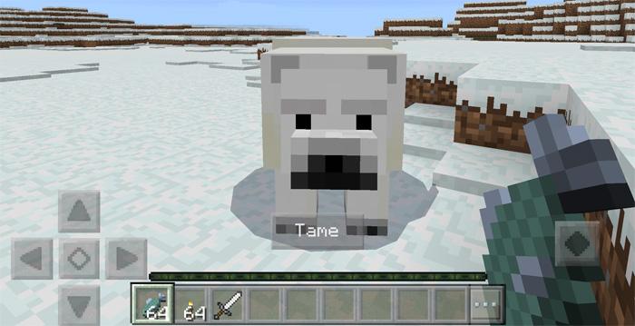 Tameable Polar Bears Addon | Minecraft PE Mods & Addons