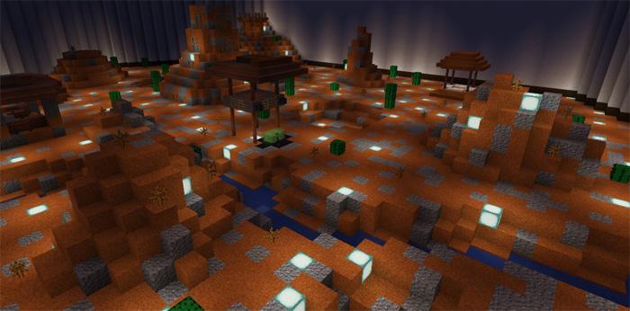 """Карта """"Volcanic Desert [KitPvP]"""