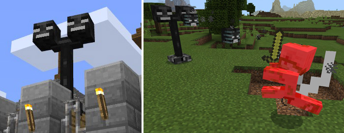 Wither Turrets Addon Minecraft Pe Mods Addons