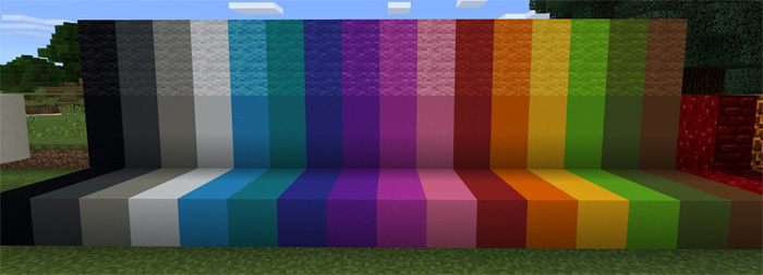 112 blocks pack minecraft pe texture packs new color palette for clay and wool blocks the new wool actually replace the vanilla wool blocks in game sciox Image collections