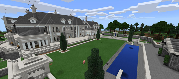 huge mansions in minecraft