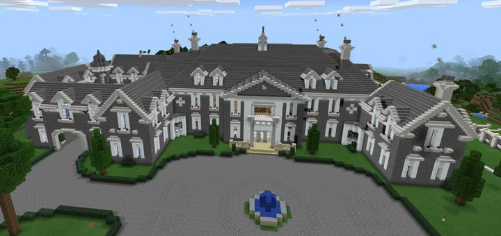 Biggest House In The World 2017 Minecraft the alpine mansion [creation] | minecraft pe maps