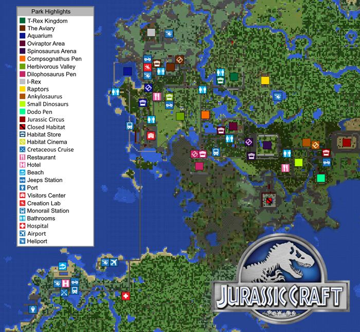 Different Types Of Jeeps >> Jurassic Craft World [Creation] (Addon!) | Minecraft PE Maps