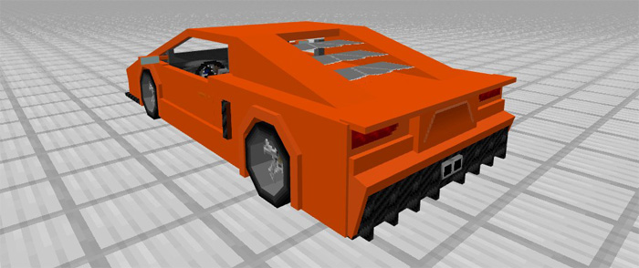 Sports Car Lamborghini Add On Minecraft Pe Mods Addons