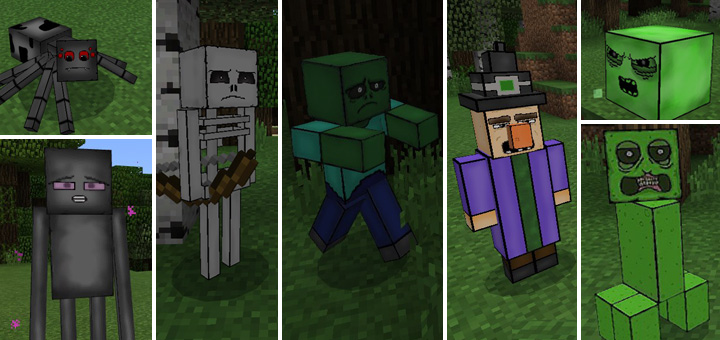 mob squad texture pack minecraft pe texture packs