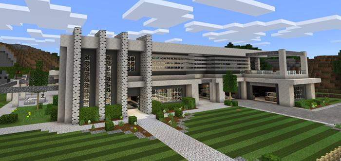 Modern Super Mansion Creation Minecraft Pe Maps