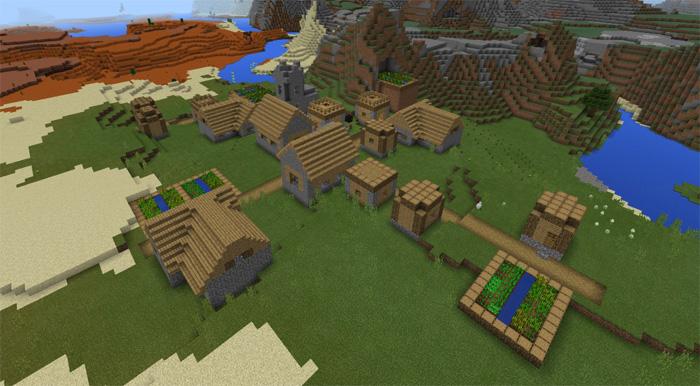 1850349118: Mesa Biome & Villages | Minecraft PE Seeds