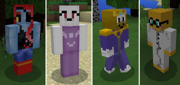 UnderTale Friends Addon Minecraft PE Mods Addons - Skin para minecraft pe de sans