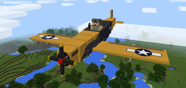 War Plane Add-on | Minecraft PE Mods & Addons