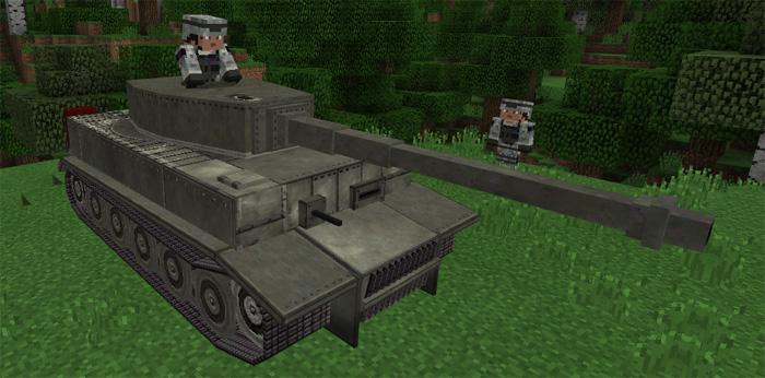 War Tank Addon Minecraft PE Mods Addons - Skins para minecraft pe guerra