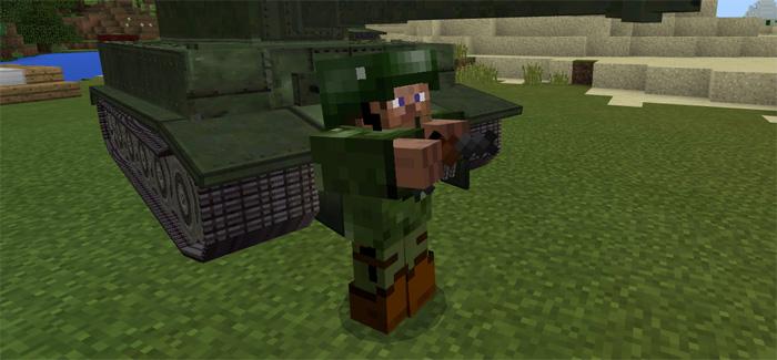 War Tank Addon Minecraft Pe Mods Addons