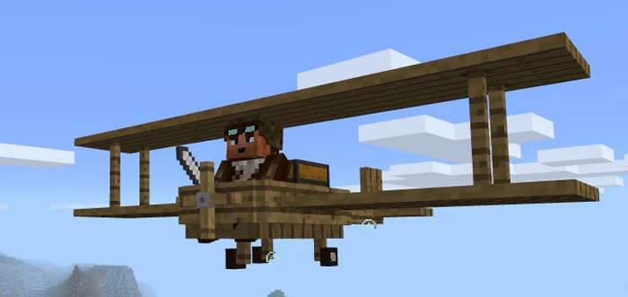 How to make a flying plane in minecraft
