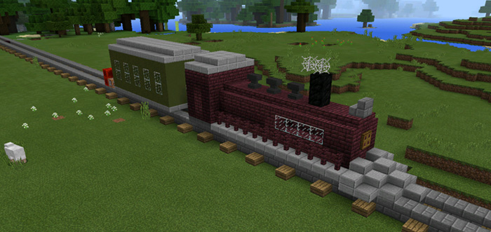 Command Block Train [Redstone] (1 0 5 Only!) | Minecraft PE Maps