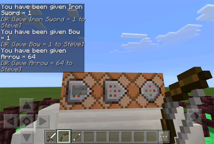 minecraft pe how to use commands