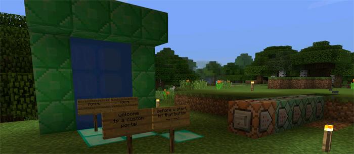 Custom Portal (Command Blocks) [Redstone] (1 0 5 Only