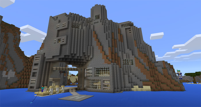 Epic cliffs base creation minecraft pe maps changelog sciox Image collections