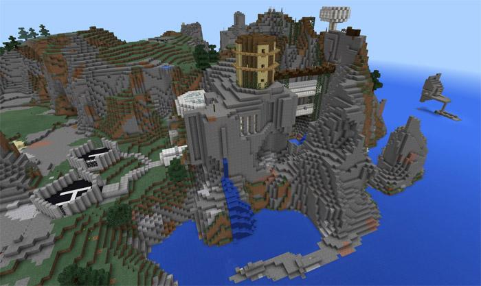 Epic cliffs base creation minecraft pe maps epic cliffs base creation sciox Image collections