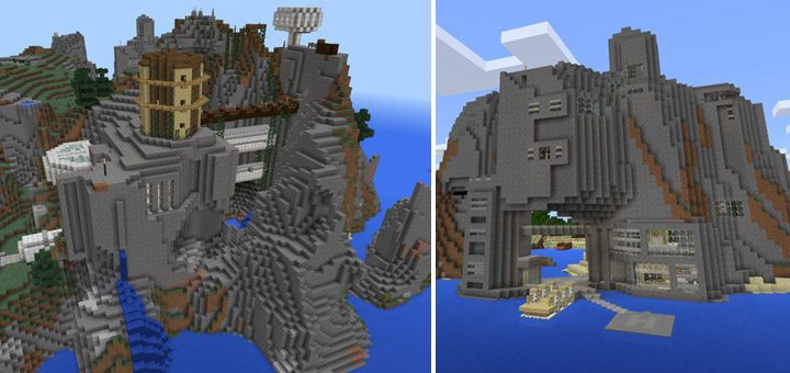 Epic Cliffs Base [Creation] | Minecraft PE Maps