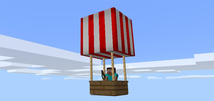 Hot Air Balloon Addon | Minecraft PE Mods & Addons