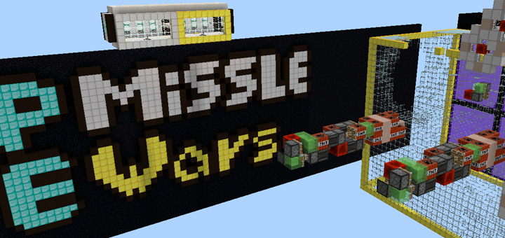 how to make a missile in minecraft pe