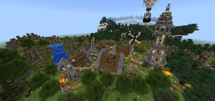 Murder Mystery Village Minigame Minecraft PE Maps - Minecraft pvp spiele