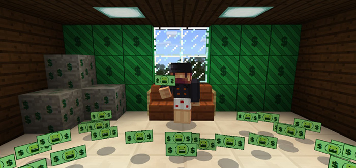 how to make money in minecraft pe
