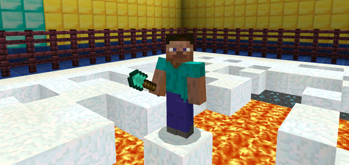 Spleef (Auto Reset) Minigame (1 0 5 Only ) Minecraft PE Maps