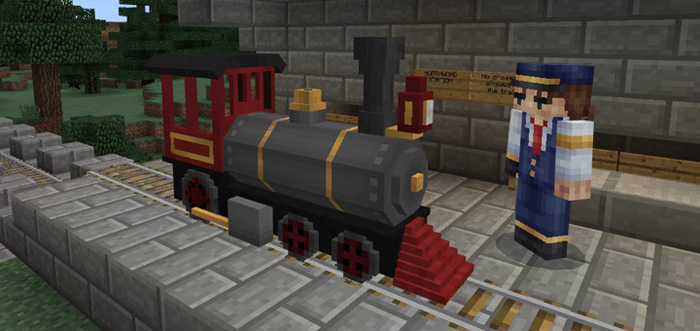 Train Add-on | Minecraft PE Mods & Addons