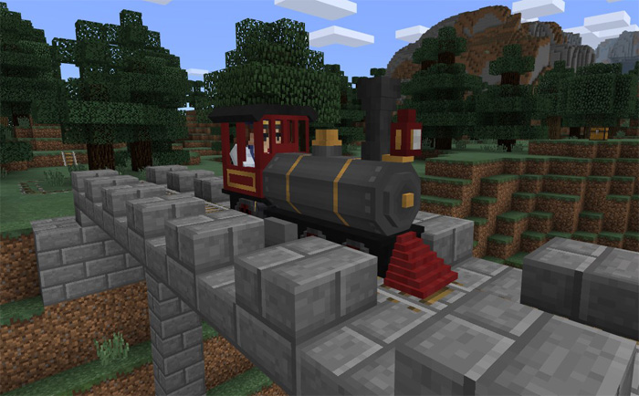 Minecraft pe trains mod