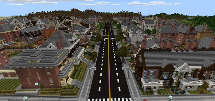 The Neighborhood Creation Minecraft PE Maps - Coole maps fur minecraft zum downloaden