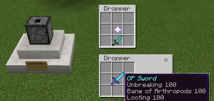 how to get op weapons in minecraft with commands