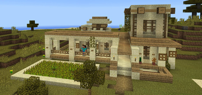 Smart House Mega Farm Redstone Minecraft Pe Maps