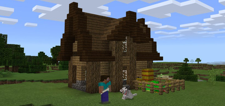 Simple Starter House Creation Minecraft Pe Maps