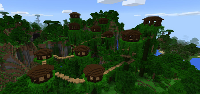 Brilliant Treehouse Creation Minecraft Pe Maps Interior Design Ideas Pimpapslepicentreinfo