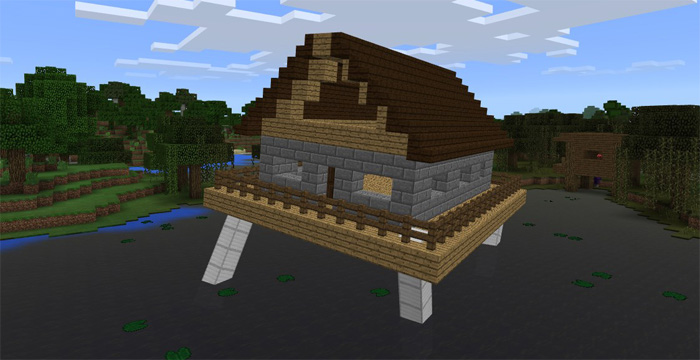 Walking House Addon Minecraft Pe Mods Addons