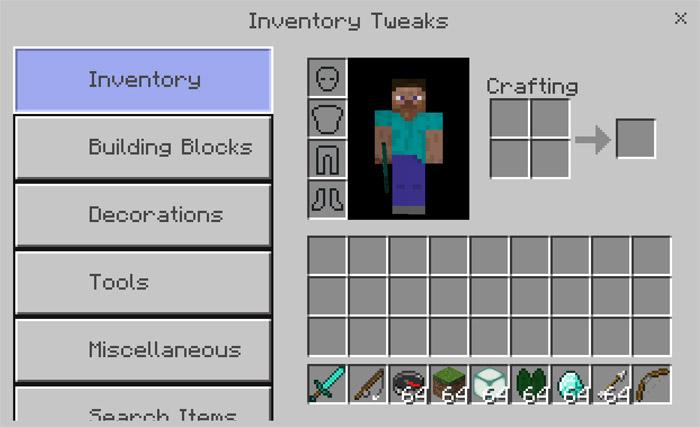 InventoryTweaks Addon | Minecraft PE Mods & Addons