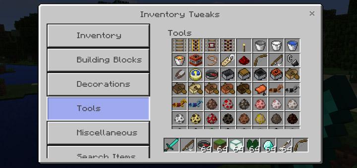 minecraft inventory sort