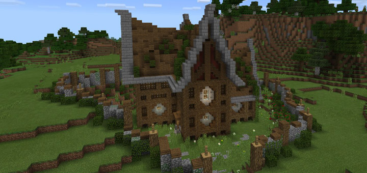 A good survival house creation minecraft pe maps Good house map