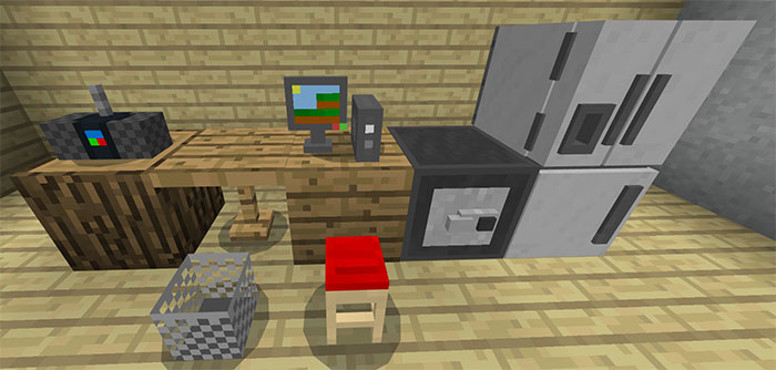 Mine Furniture Addon Minecraft Pe Mods Amp Addons