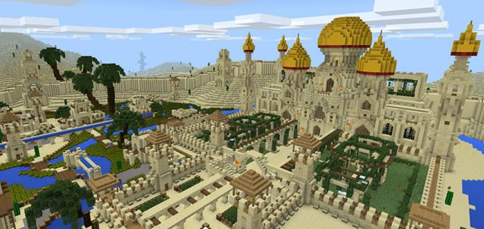 Afbeeldingsresultaat voor minecraft desert city