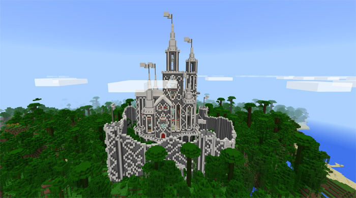 Minecraft Build Blue And White