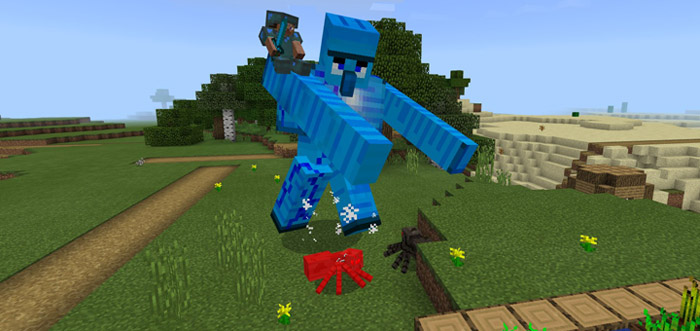 how to make an iron golem in minecraft pe