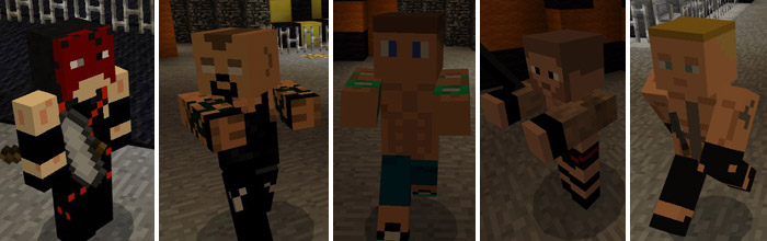 WWE Addon Minecraft PE Mods Addons - Skins para minecraft pe de wwe