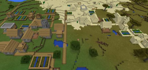 -200889213: Double Village Spawn & Stronghold