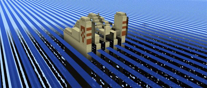 1769469383: The Stripe Lands (Temple & Village) | Minecraft
