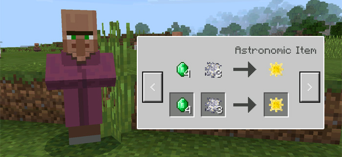 Astronomic expansion addon minecraft pe mods addons here is a list of items sold by the new villagers sciox Images