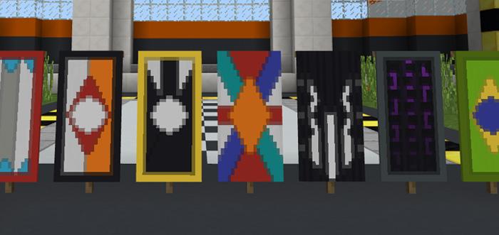 Banner Crafting Ideas Creation Beta Only Minecraft PE Maps - Minecraft server status banner erstellen