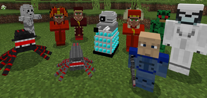 Doctor Who Mobs Pack Addon Minecraft PE Mods Addons - Minecraft teleport player to mob